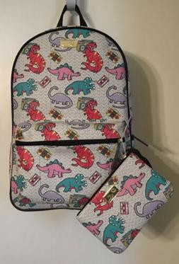 LUV BETSEY BY BETSEY JOHNSON DINOSAUR BACKPACK & PENCIL CASE