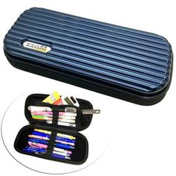 MAZZ MadCase BLUE Hard Shell Pen Pencil Case Pouch Box Stora