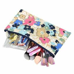 Makeup Zipper Pouch Purse Pencil Case Cosmetic Bag Storage -