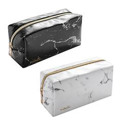 Marble Cosmetic Bag, Zodaca  Marble Pattern Portable Zipper