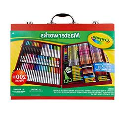 Crayola Masterworks Art Case, Over 200 Pieces, Gift for Kids