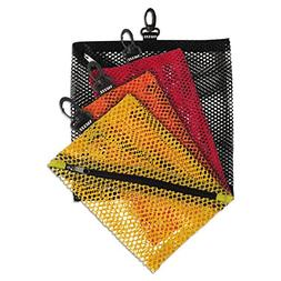 Vaultz Mesh Storage Bags, Assorted Colors and Sizes, 4 Bags