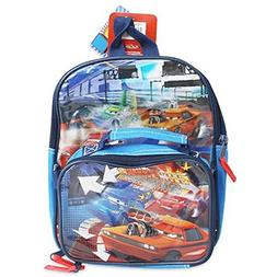 """Disney Cars 11"""" Backpack Detachable Lunchbox, Small Size"""