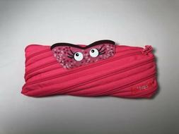 Zipit Minster Pouch Pink Pencil Bag Case Cosmetic Pouch