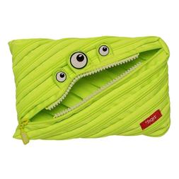 ZIPIT Monster Big Pencil Case, Lime - Jumbo Pencil/Pen/Art H