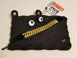 ZIPIT Monster Grillz Binder Pencil Pouch Case with Gold Teet