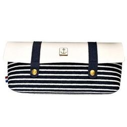 Naval Stripe Clamshell Wind Restoring Ancient Ways Zipper Pe