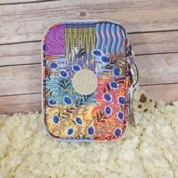 New Kipling 100 Pens Pencil Case Cosmetic Pouch Whimsical Pa