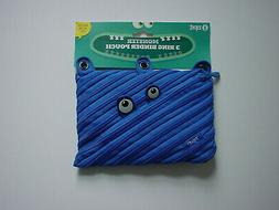 NEW ZIPIT Blue Monster 3 Ring Binder Pencil Pouch Case