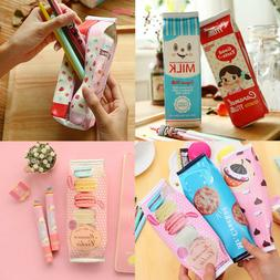 New Creative Simulation Milk Cartons Pencil Case Kawaii Stat