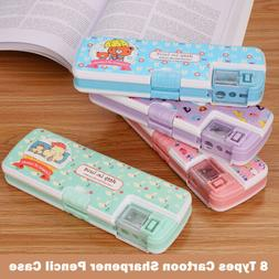 New School Pencil Case with Sharpener Large capacity Cartoon