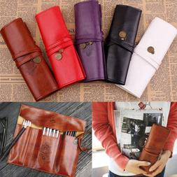 New Style Roll PU Leather Purse Pouch Makeup Pem <font><b>Pe