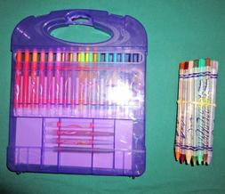 NWOT Crayola Twistables Colored Pencils Set in Case & Extras