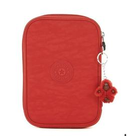 NWT Kipling 100 Pens Pencil Case Cherry Red