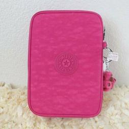 NWT Kipling 100 Pens Pencil Case Cosmetic Pouch Busy Blossom