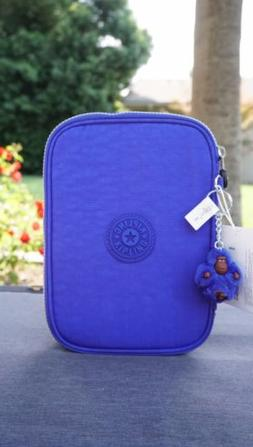 NWT Kipling 100 Pens Pencil Case Cosmetic Pouch Sapphire