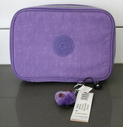 NWT Kipling 100 PENS Pencil Cosmetic Case French Lavender Pu