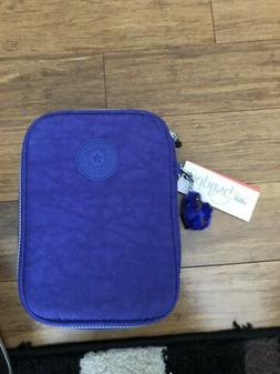 NWT Kipling 100 PENS Printed Pencil Case Sailor Blue AC3657