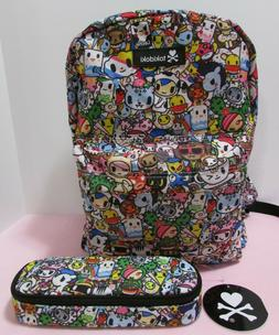 NWT Tokidoki Backpack and Pencil Case - Multicolored Charact