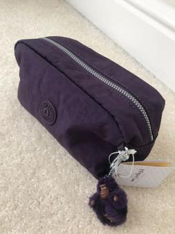 NWT Kipling Gleam Cosmetics Case pencil case in Deep Purple