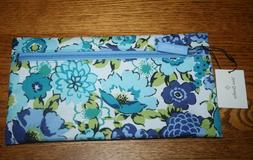 NWT Vera Bradley Lighten Up Pencil Pouch Case in Blueberry B