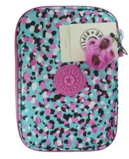 Kipling Nylon 100 Pens Pencil Loving Geos Multi Pink Art Cos