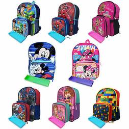 Disney Paw Patrol Marvel Toy Story Backpack, Lunch Bag & Pen