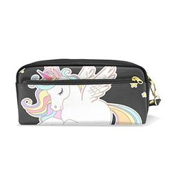 ColourLife Pen Bags Pencil Case Cute Unicorn with Gold Star