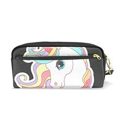ColourLife Pen Bags Pencil Case White Unicorn Rainbow Hair L