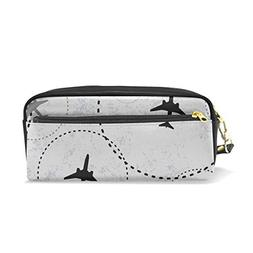 ColourLife Pen Pencil Case Air Travel Leather Zipper Pouch B