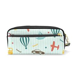 ColourLife Pen Pencil Case Transport Travel Pattern Leather