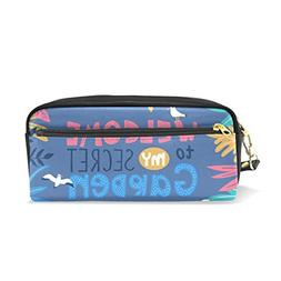 ColourLife Pen Pencil Case Welcome to My Secret Garden Leath