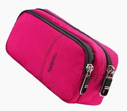 Pencil Case for Girls with Double Zipper