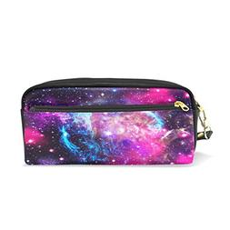 Pencil Case,Cicily Universe Galaxy Space Cool Watercolor PU