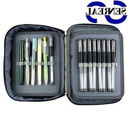 Large Pencil Case SENREAL 72 Slots Pen Case Durable Student