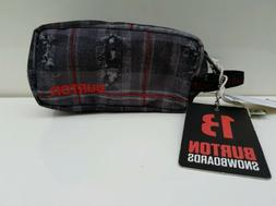 pencil case bag pouch snowboard red grey