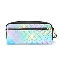 ColourLife Pencil Case Colorful Fish Scale Magic Mermaid Tai