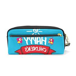 ColourLife Pencil Case Children's Day Leather Pouch Bag Make