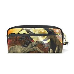 ColourLife Pencil Case Dinosaur 3D Rendering Pouch Bag Makeu