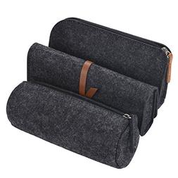 pencil case,  3 pack pen case pencil holder cosmetic pouch b
