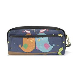 ColourLife Pencil Case Good Night Cute Sleeping Birds Zipper