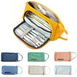 Large Capacity Stationery Cosmetic Bags School Pencil Case P