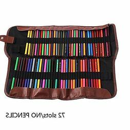 72 colored pencil case leather storage art