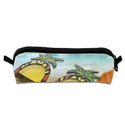 Pencil Case Pineapple in Sunglasses Great Makeup Bag for Chi