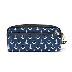 ColourLife Pencil Case Sea Pattern in Anchors Zipper Pencil