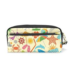 ColourLife Pencil Case Summer Vacation Leather Pouch Bag Mak