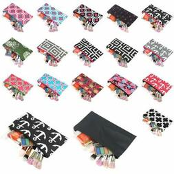Pencil Case Toiletry Holder Cosmetic Bag Travel Makeup Zip S