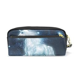 ColourLife Pencil Case Unicorn in Space Leather Pouch Bag Ma