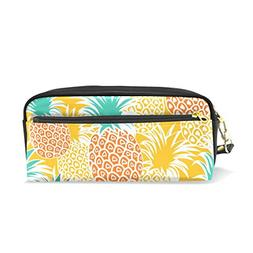 ColourLife Pencil Case Yellow Orange Pineapples Pouch Bag Ma