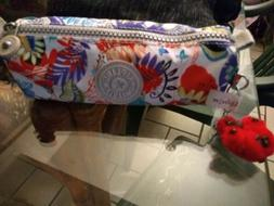 Kipling Pencil Pouch Cosmetic Bag Pen Case NWT and Marta key